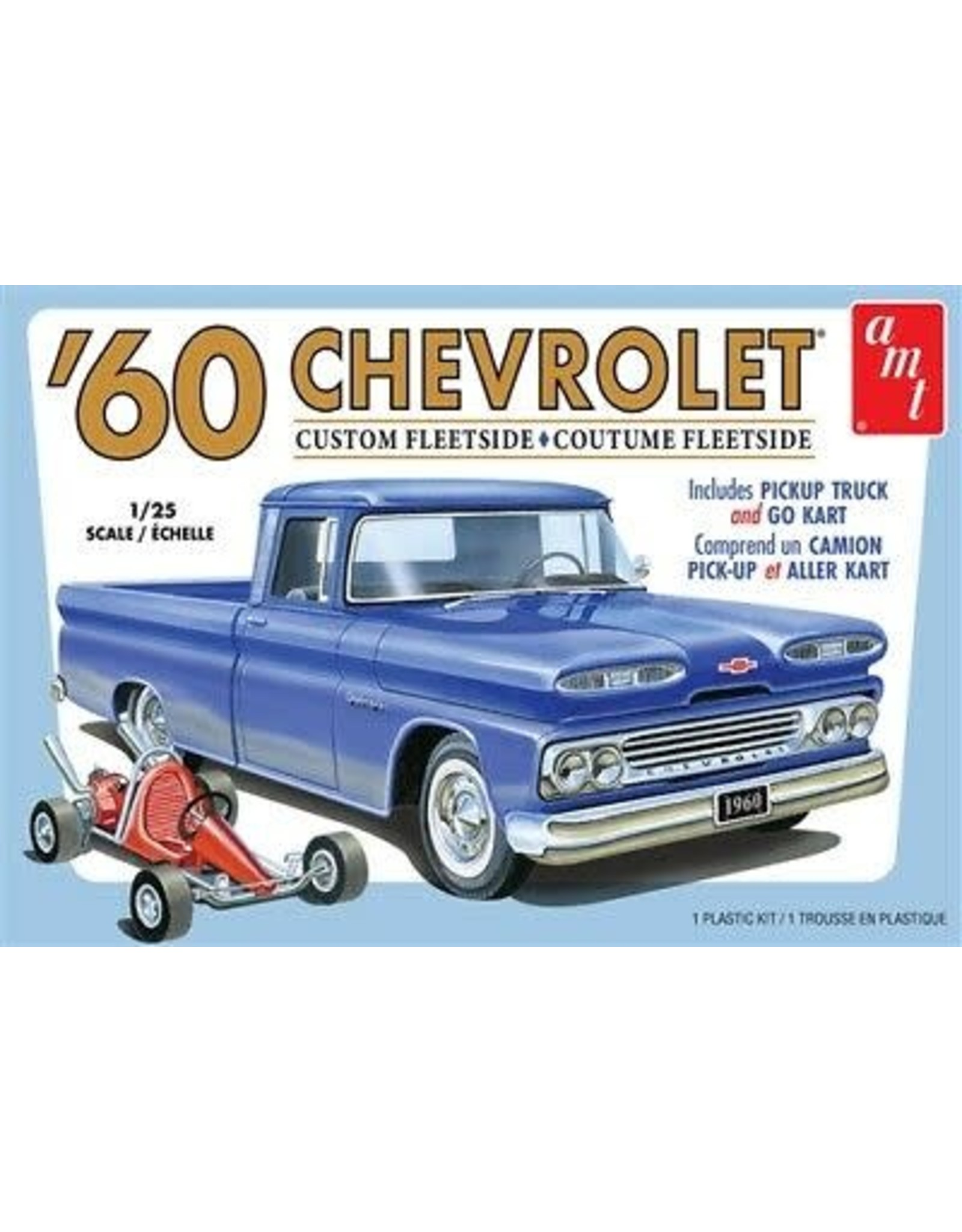 AMT Models 1960 CHEVROLET CUSTOM FLEETSIDE W/ GO KART 1:25