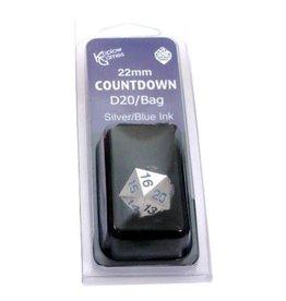 Koplow 22MM COUNTDOWN METAL D20 BLUE W/BAG