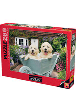 260PC PUZZLE - PUPPIES IN A WHEELBARROW