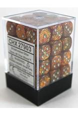 Chessex 36D6 GLITTER GOLD / SILVER