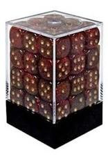 Chessex 36D6 GLITTER RUBY/GOLD