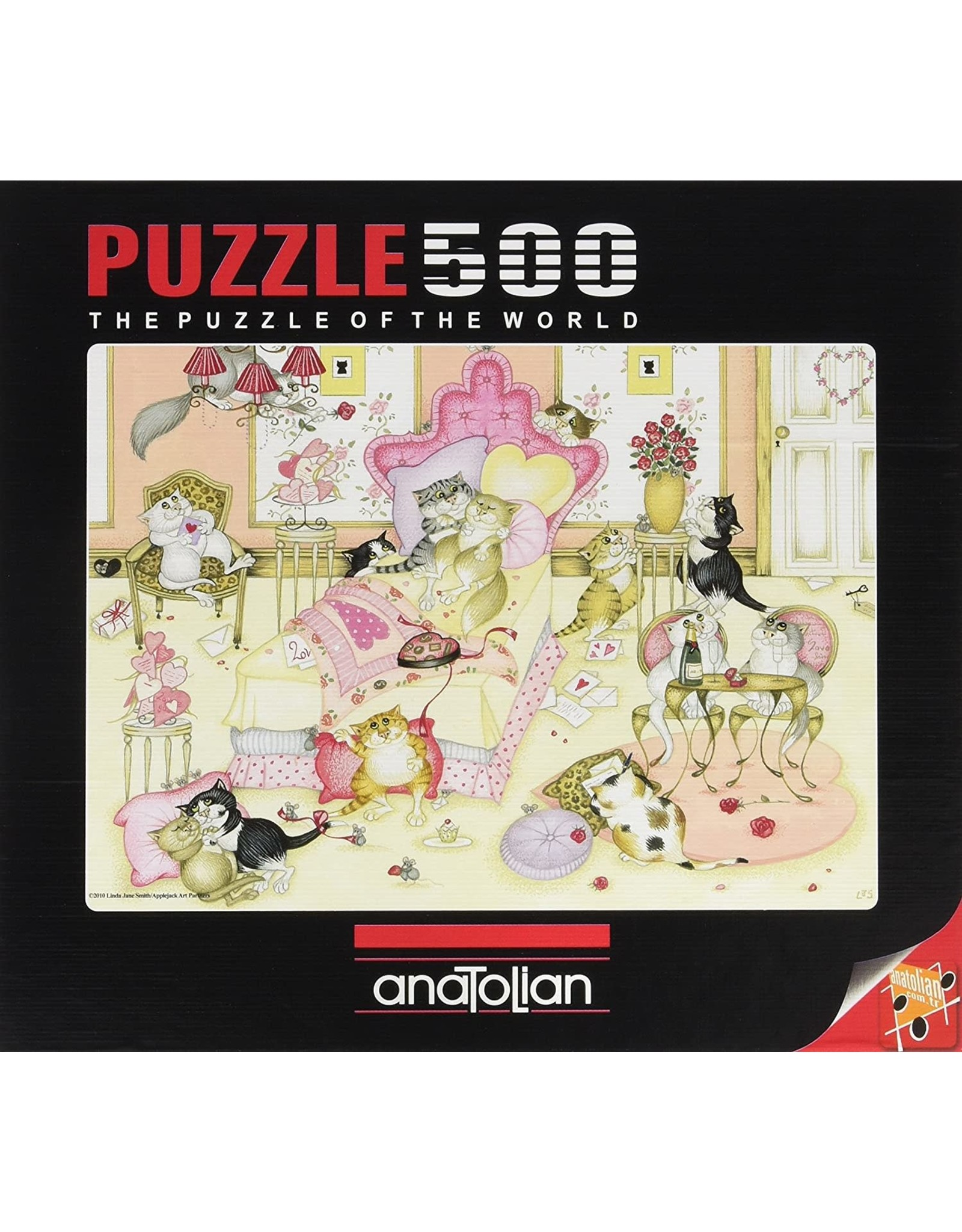 500PC PUZZLE - VALENTINES DAY CATS