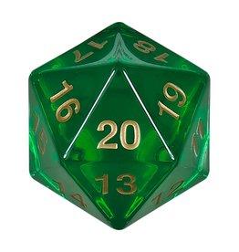55MM COUNTDOWN D20 EMERALD GOLD