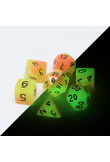 Die Hard Dice 7PC RPG DICE - ALCHEMISTS FIRE - GLOW