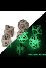 Die Hard Dice 7PC RPG DICE - SPECTRAL GOLEM - GLOW
