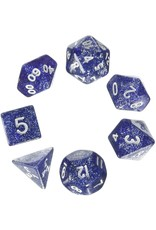 Koplow 7PC RPG DICE GLITTER BLUE/WHITE