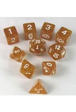 Koplow 7PC RPG DICE GLITTER YELLOW/WHITE