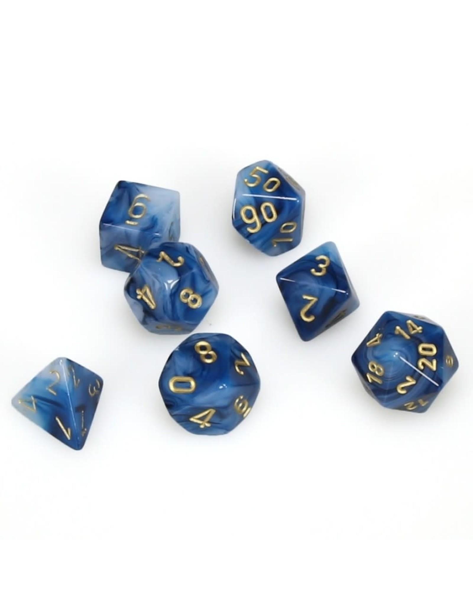 Chessex 7PC RPG DICE PHANTOM TEAL/GOLD