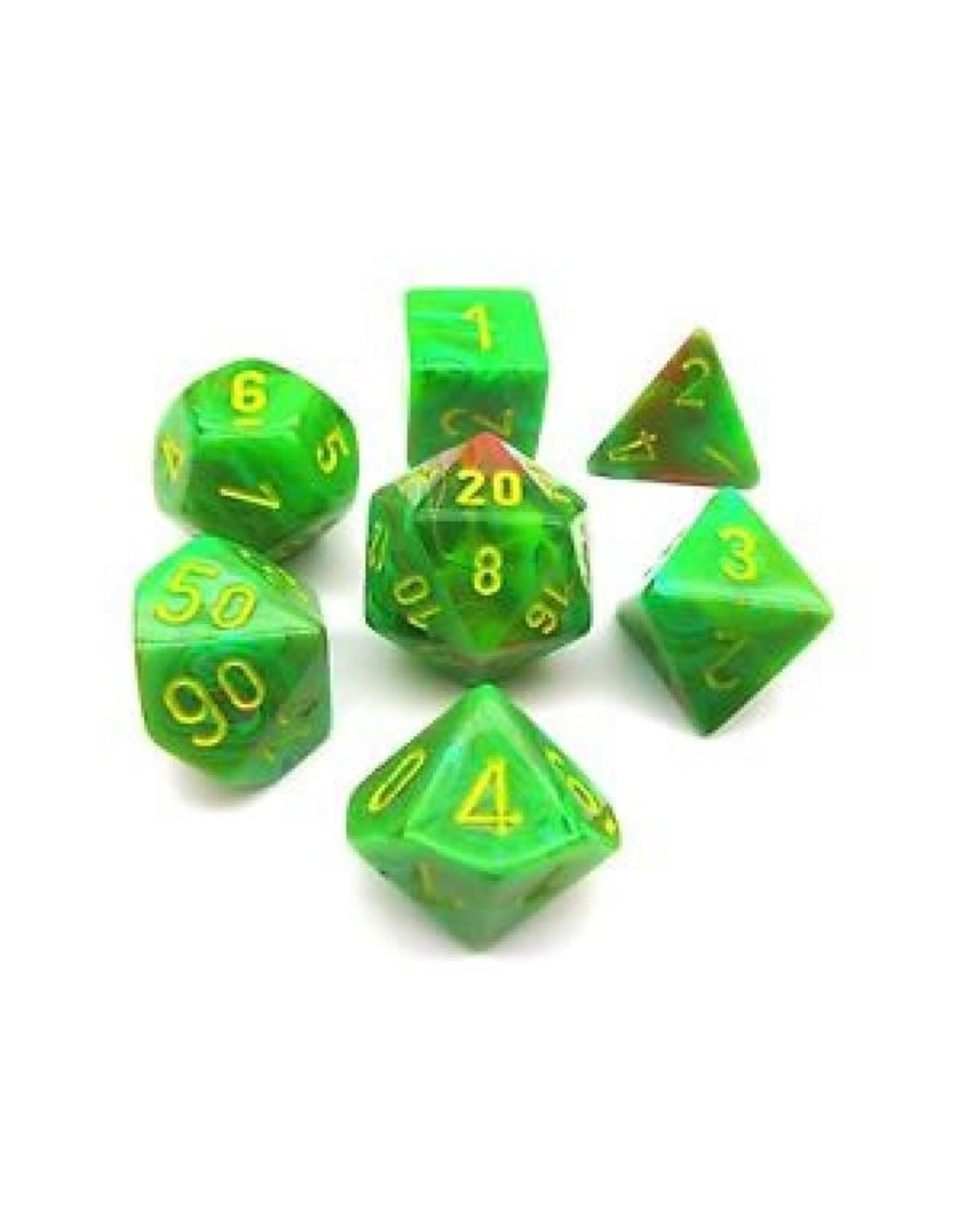 Chessex 7PC RPG DICE VORTEX SLIME/YELLOW