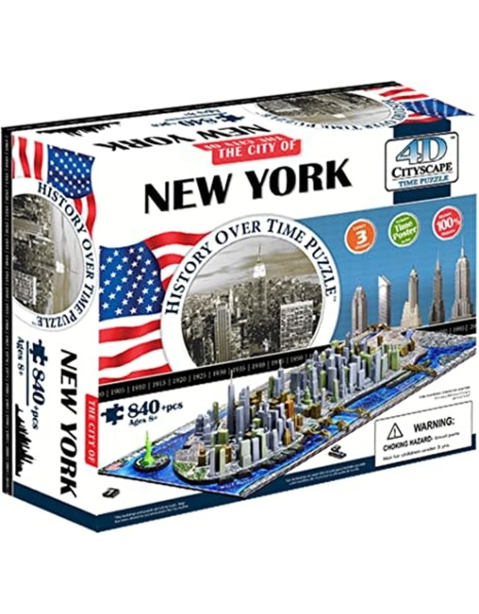 840PC PUZZLE - 4D NEW YORK