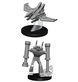 Wizkids TRANSFORMERS UNPAINTED MINIS LASERBEAK AND FRENZY