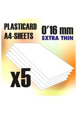 Green Stuff World ABS PLASTICARD: PLAIN SHEET 0.16MM