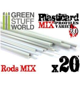 Green Stuff World ABS PLASTICARD: PROFILES VARIETY 20 PACK
