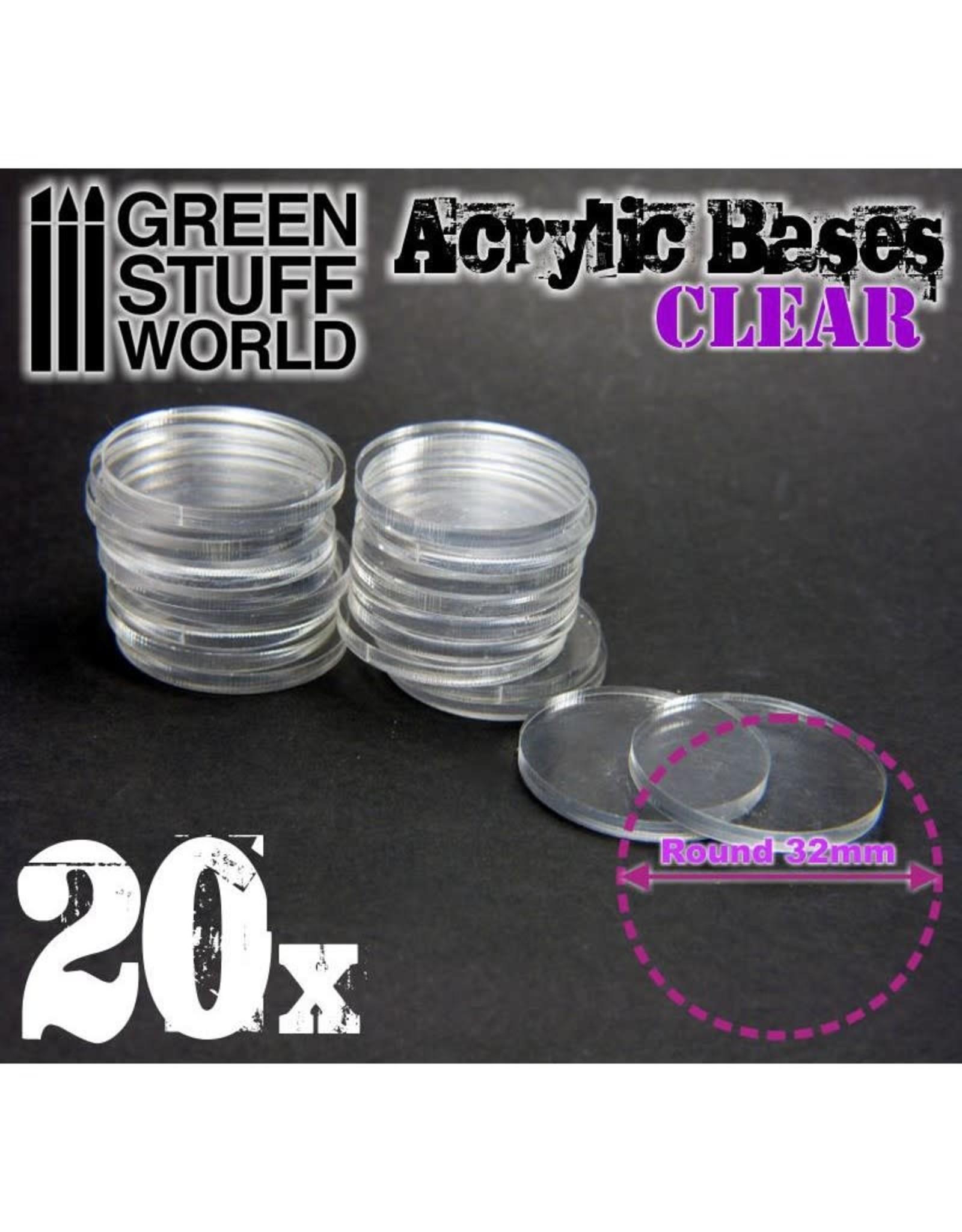 ACRYLIC BASES 32MM - CLEAR