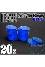 ACRYLIC BASES: BLUE 25MM
