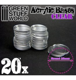 Green Stuff World ACRYLIC BASES: CLEAR 25MM