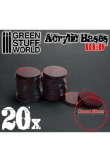 ACRYLIC BASES: RED 25MM