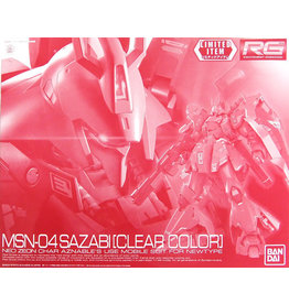 BANDAI RG 1:144 SAZABI [CLEAR COLOR]