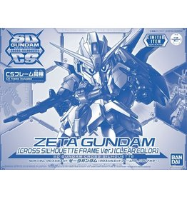 BANDAI SD GUNDAM CROSS SILHOUETTE ZETA GUNDAM (CROSS SILHOUETTE FRAME VER.) [CLEAR COLOR]