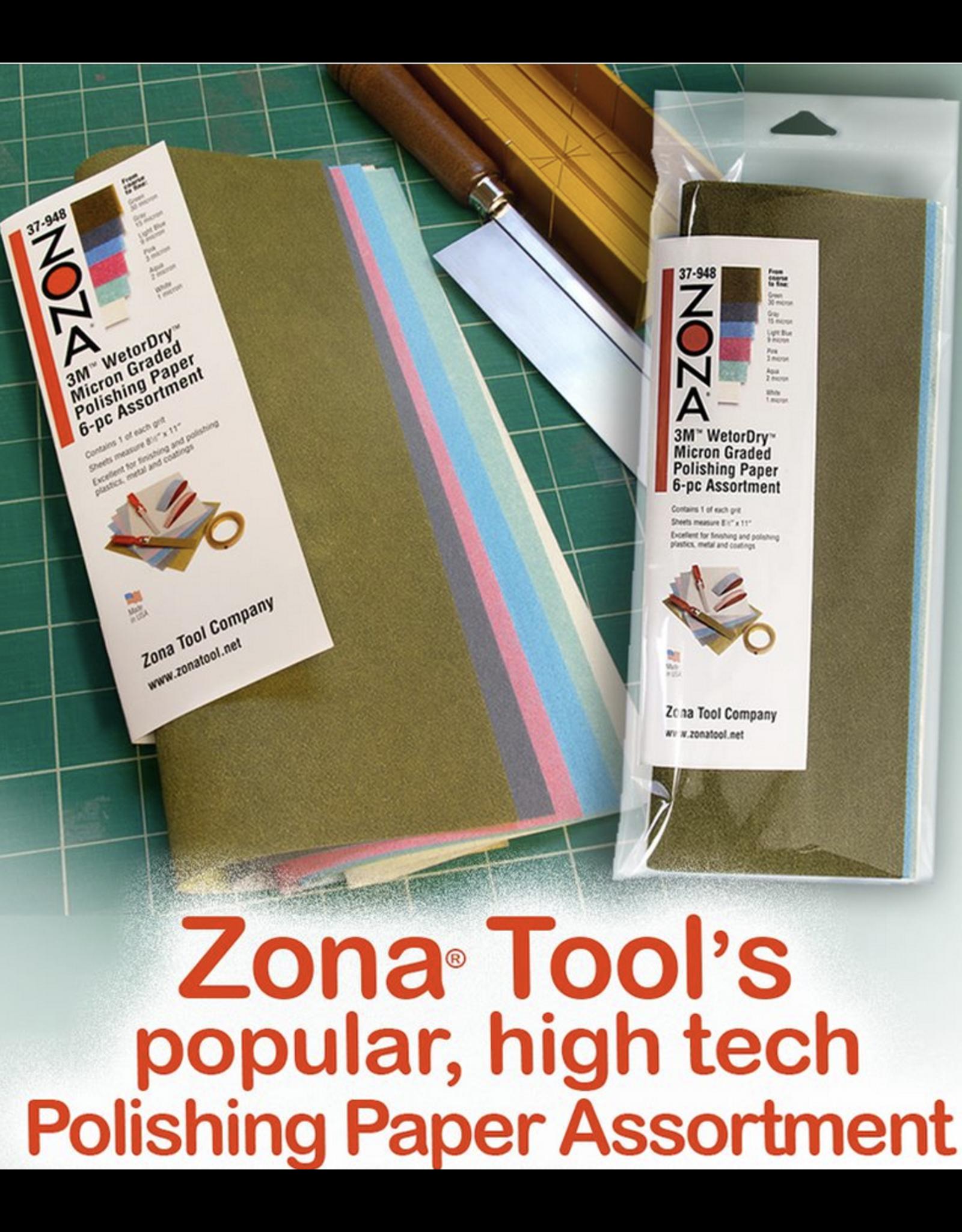 Zona Tool Company 3MÔÄÓ WETORDRYÔÄÓ POLISHING PAPER ASSORTED 6PC