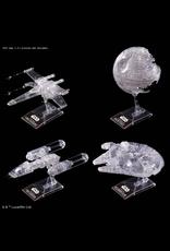 BANDAI 1:144 & 1:350 & 1:2700000 STAR WARS: RETURN OF THE JEDI CLEAR VEHICLE SET