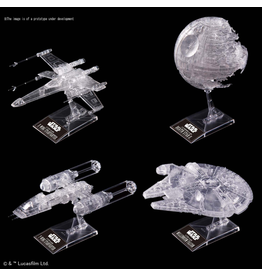 BANDAI 1:144 & 1:350 & 1:2700000 STAR WARS: RETURN OF THE JEDI CLEAR VEHICLE SET