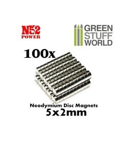 NEODYMIUM MAGNETS 5X2MM - 100CT