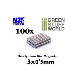 NEODYMIUM MAGNETS 3X0.5MM - 100CT