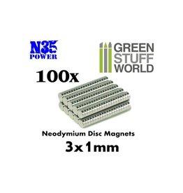 NEODYMIUM MAGNETS 3X1MM - 100CT