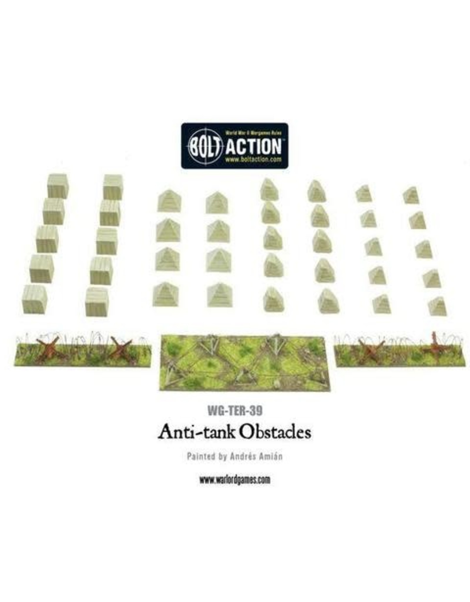 ANTI-TANK OBSTACLES PLASTIC BOXED SET