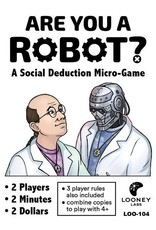 Looney Labs ARE YOU A ROBOT: 2 PLAYER EDITION
