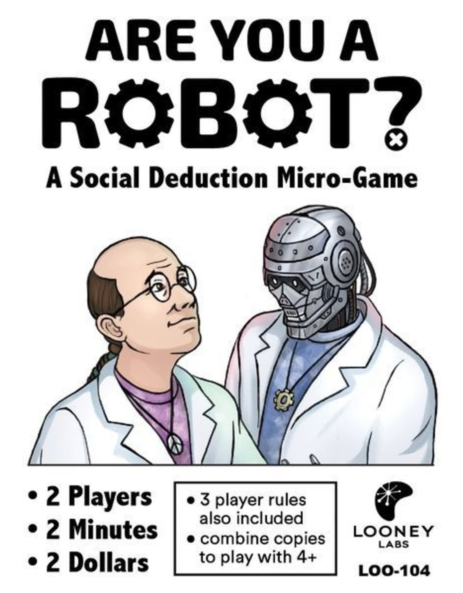 Looney Labs ARE YOU A ROBOT: 10 PLAYER EDITION