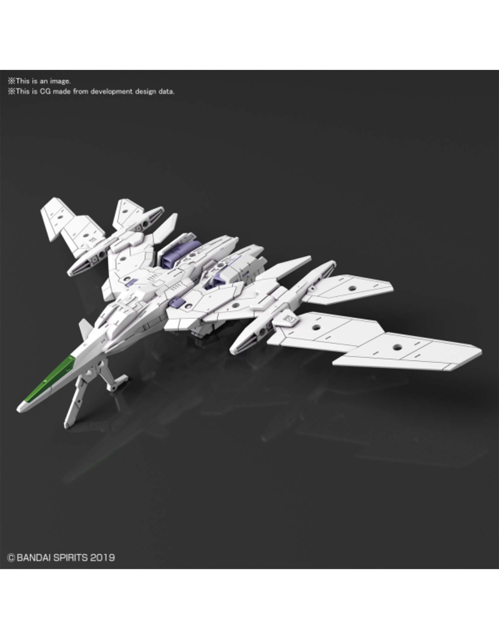 BANDAI 30MM 1/144 EXTENDED ARMAMENT VEHICLE (AIR FIGHTER Ver.) [WHITE]