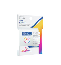 Gamegenic MATTE MINI SQUARE-SIZED SLEEVES 53 X 53 MM 50CT