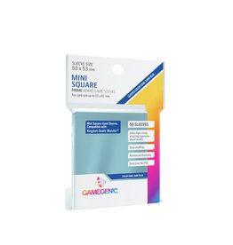 Gamegenic PRIME MINI SQUARE-SIZED SLEEVES 53 X 53 MM 50CT