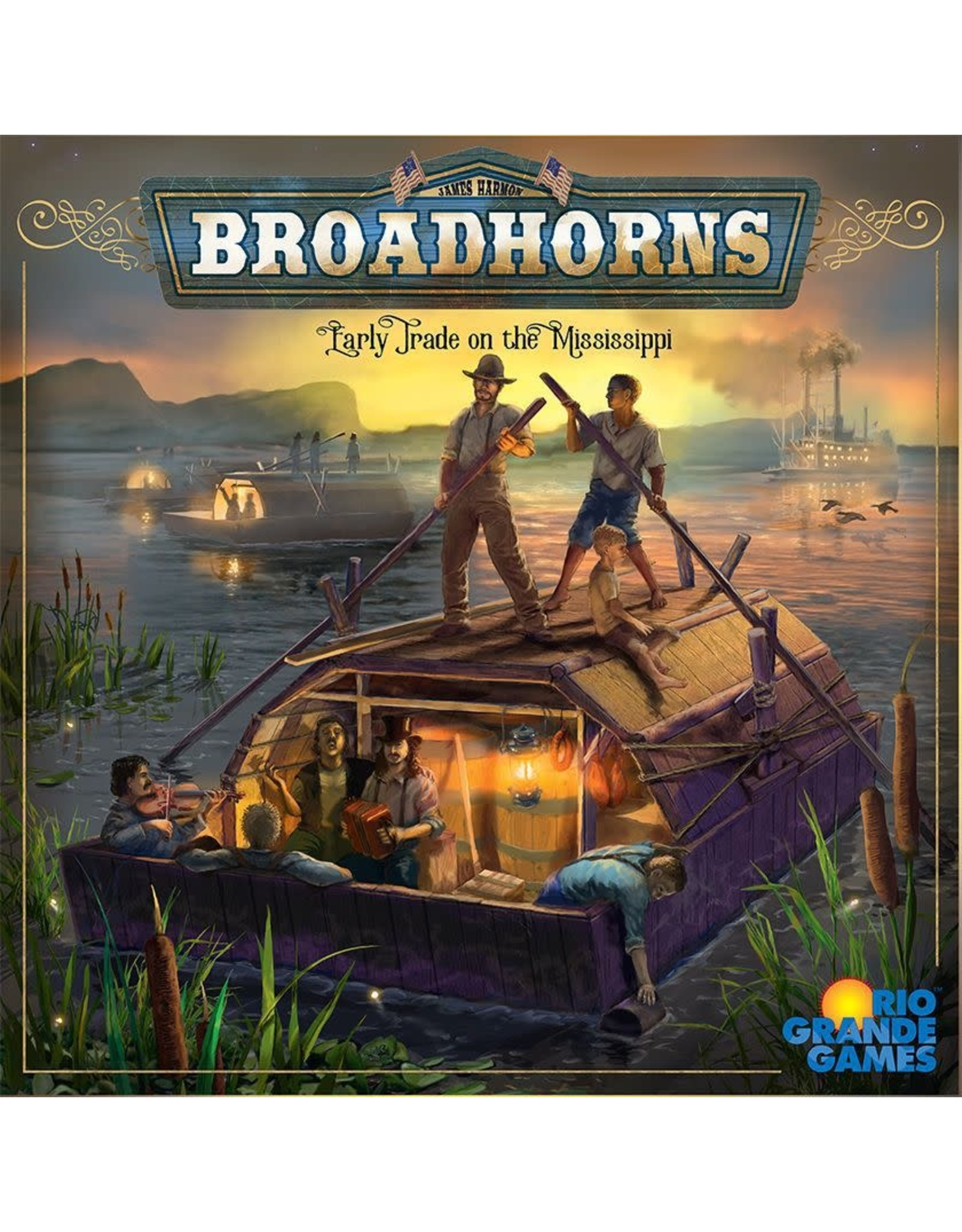 Rio Grande Games BROADHORNS: EARLY TRADE ON THE MISSISSIPPI