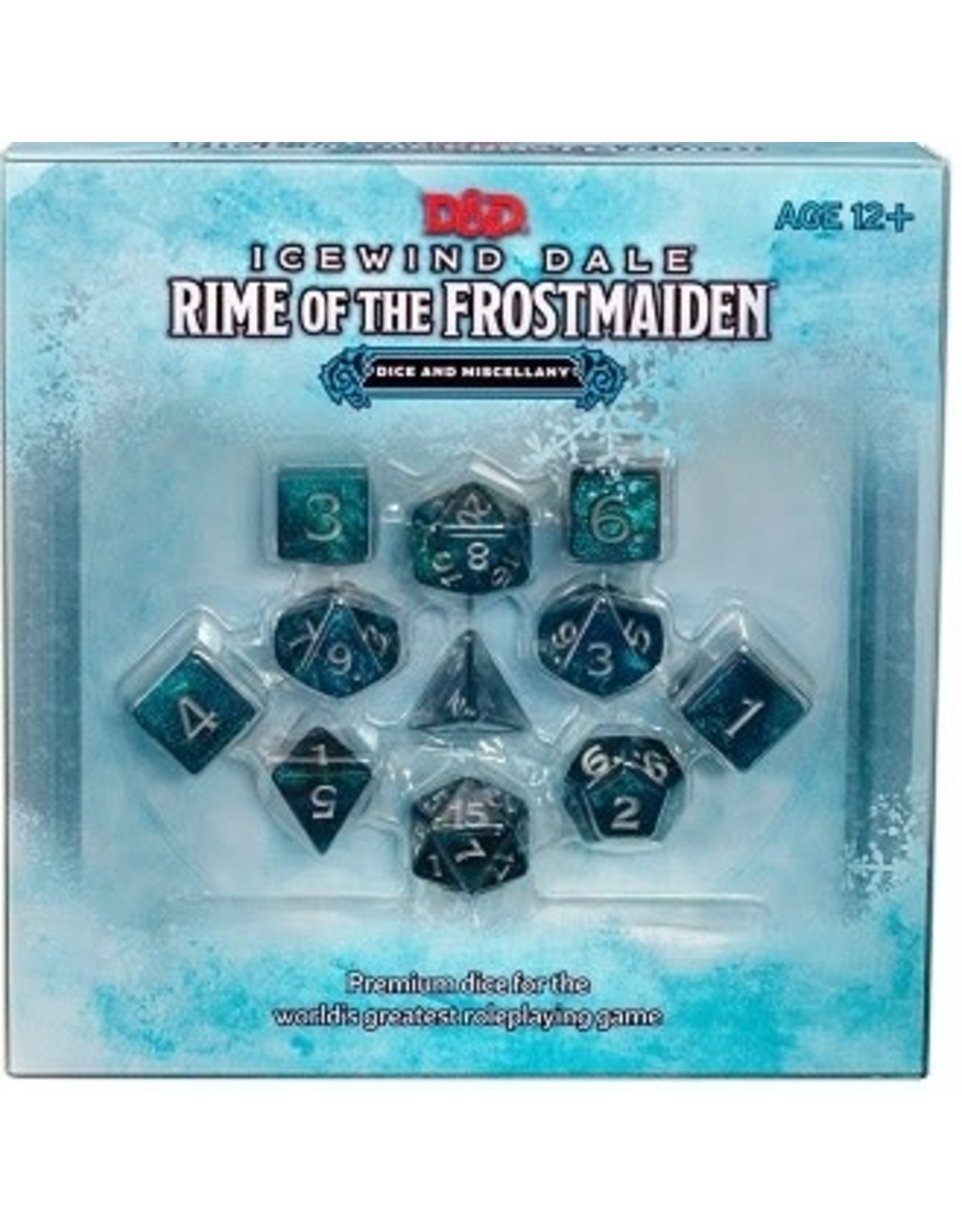 Wizards of the Coast D&D ICEWIND DALE: RIME OF THE FROSTMAIDEN DICE SET (SEP 2020)
