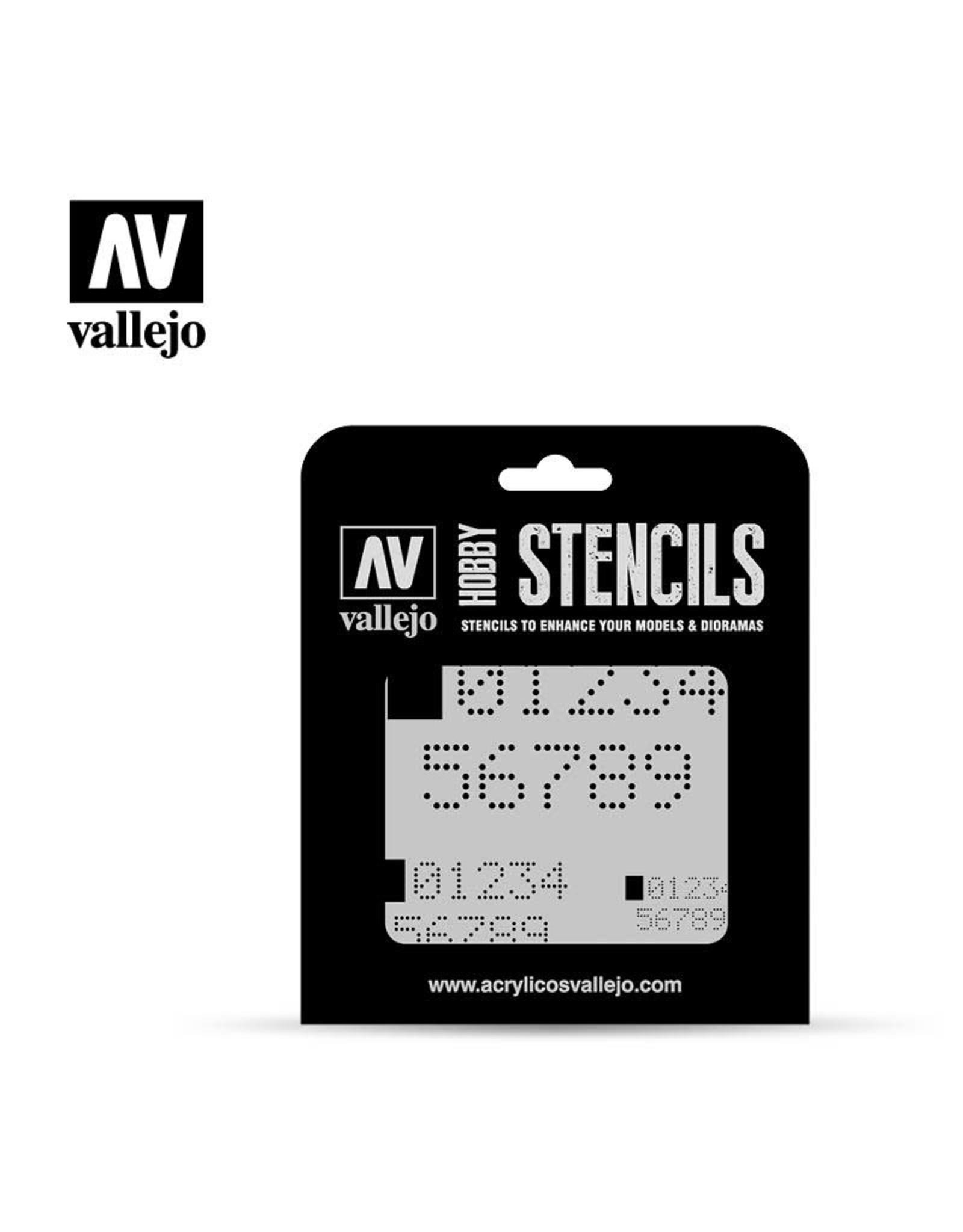 VALLEJO VALLEJO STENCIL DIGITAL NUMBERS