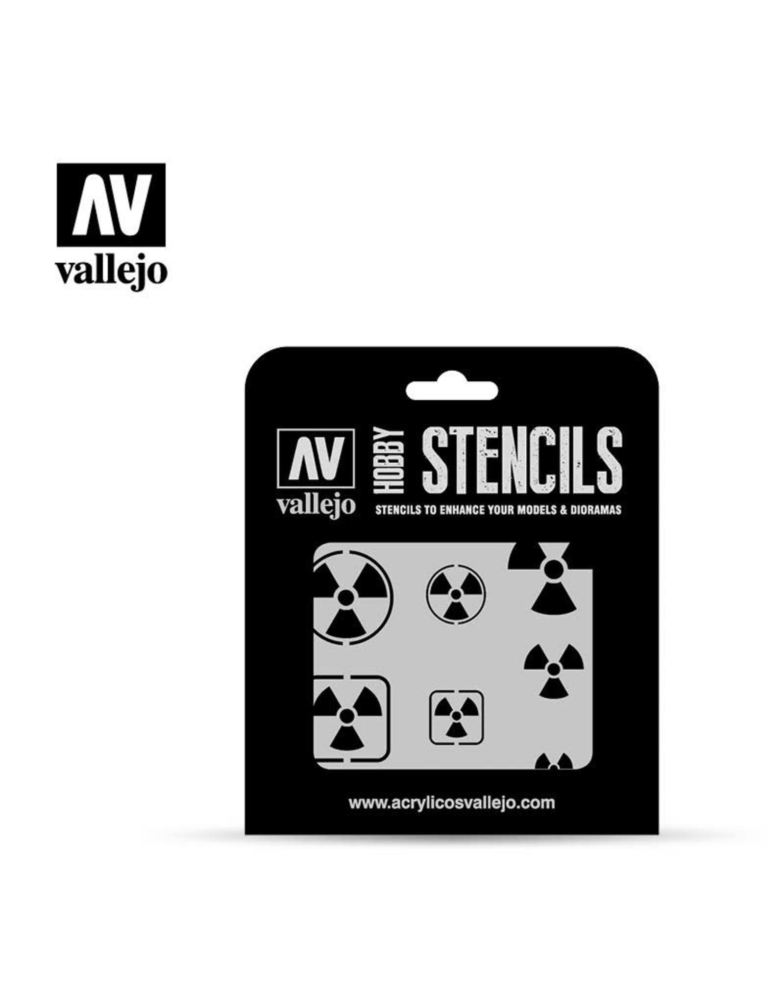VALLEJO VALLEJO STENCIL RADIOACTIVITY SIGNS