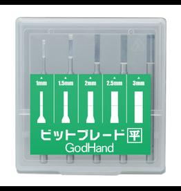 GodHand GODHAND - BIT BLADE SET [FLAT BLADE] (SET OF 5)