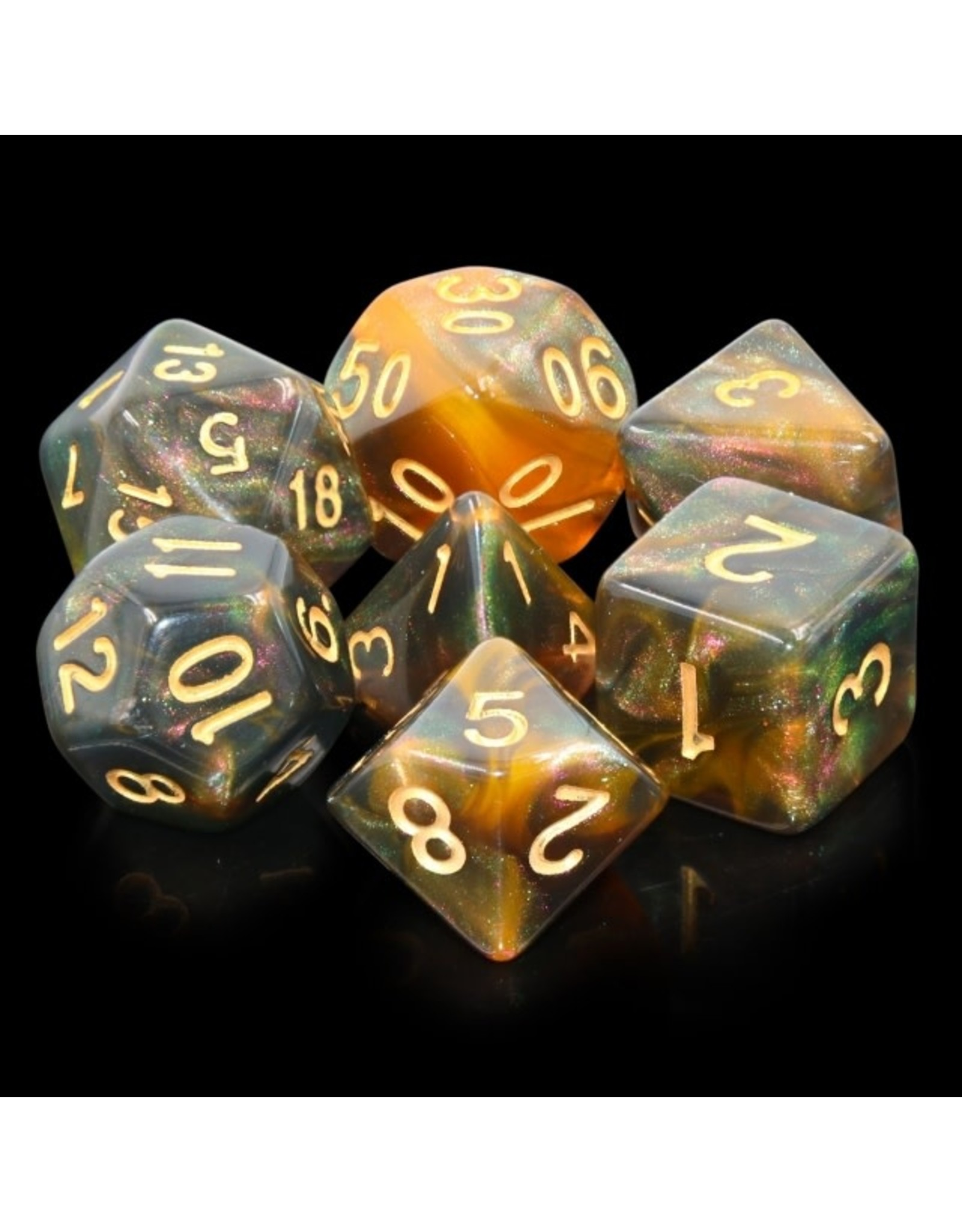 HengDa Dice 7PC RPG DICE - NIGHTINGALE