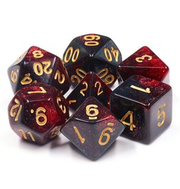 HengDa Dice 7PC RPG DICE - BLOODY MARY