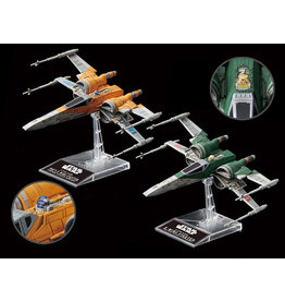 BANDAI 1/144 POE'S X-WING FIGHTER & X-WING FIGHTER (STAR WARS:THE RISE OF SKYWALKER)