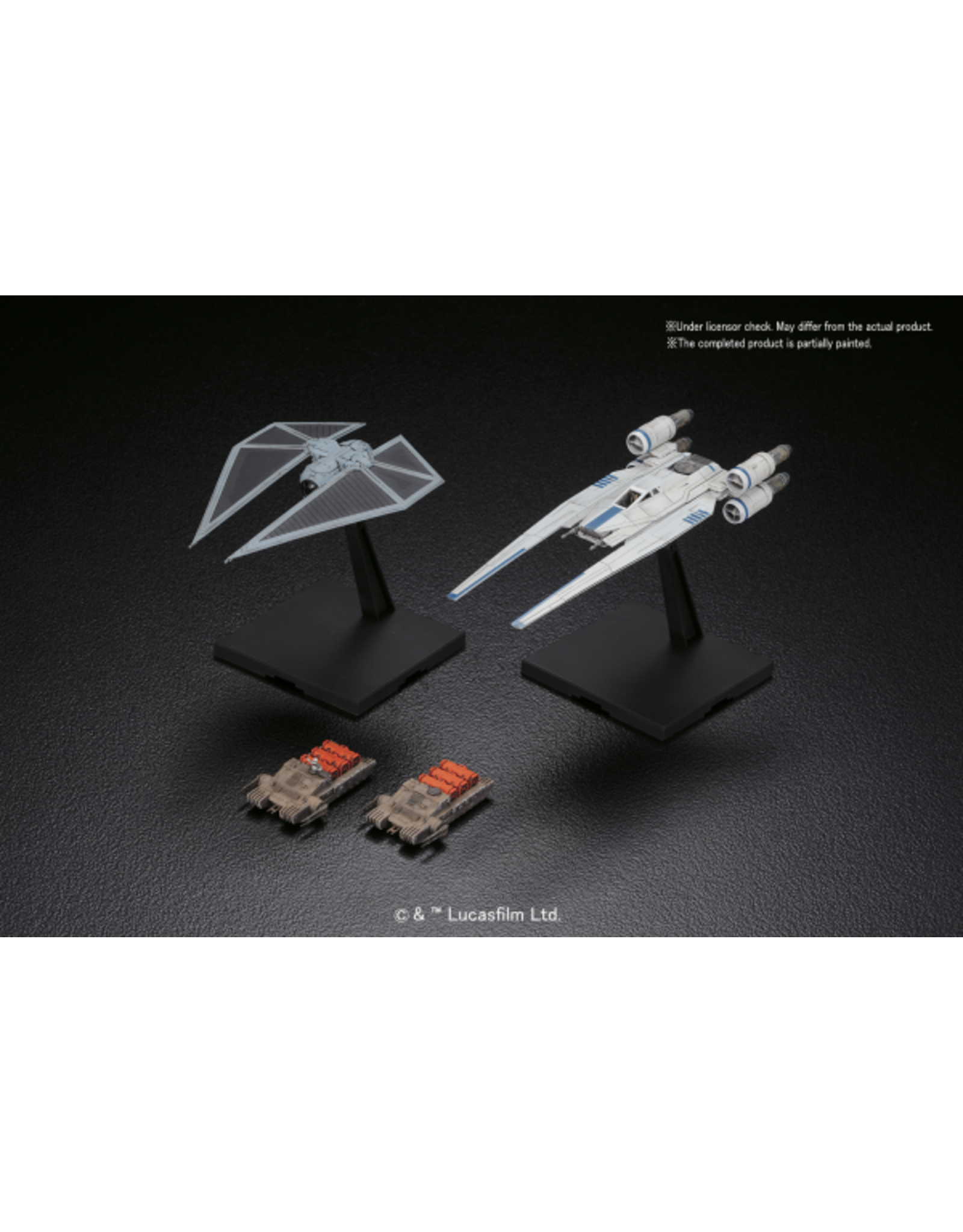 BANDAI 1/144 U-WING FIGHTER & TIE STRIKER