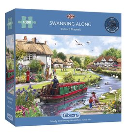 Gibsons 1000PC PUZZLE: SWANNING ALONG