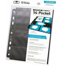 Ultimate Guard BINDER PAGES: SUPREME 14-POCKET STANDARD + MINI AMERICAN (10 PAGES)