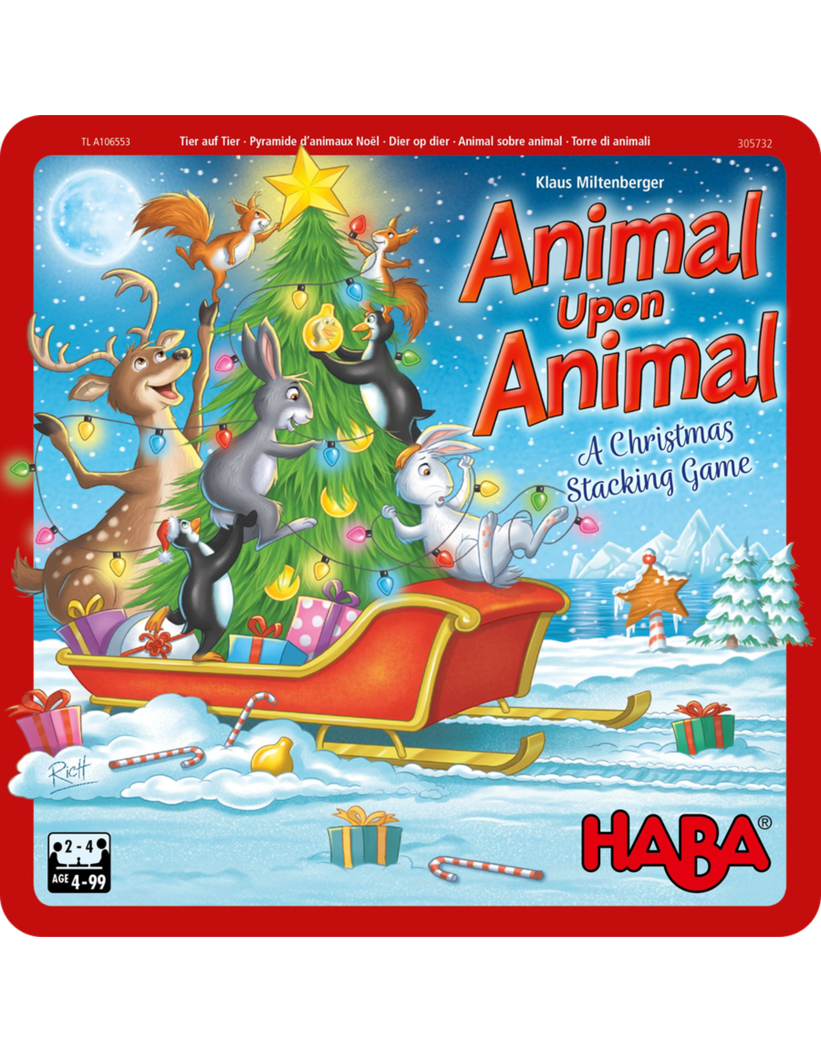 Haba ANIMAL UPON ANIMAL - CHRISTMAS