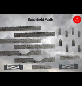 Mantic TERRAIN CRATE: BATTLEFIELD WALLS