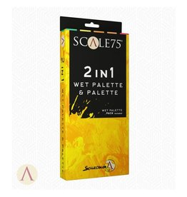 Scale75 SCALE ACCESSORIES: 2IN1 WET PALETTE AND PALETTE
