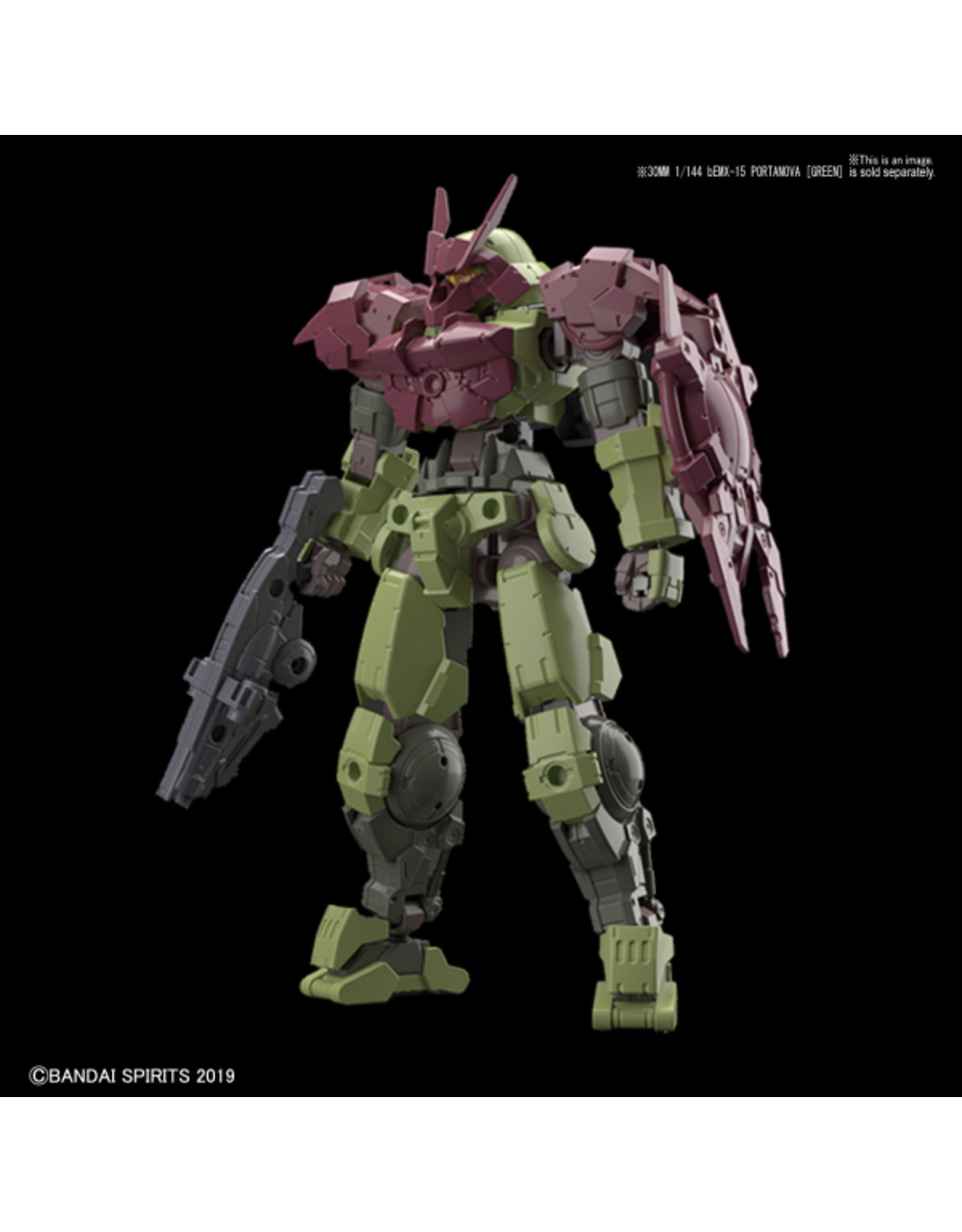 BANDAI 30MM 1/144 OPTION ARMOR FOR CLOSE FIGHTING [PORTANOVA EXCLUSIVE/DARDK RED]